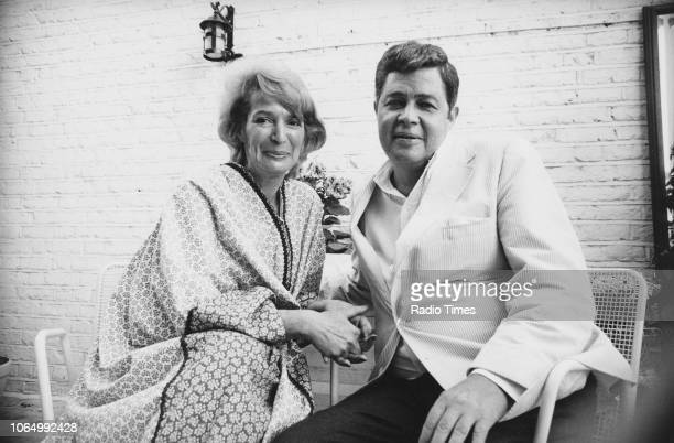 Portrait of playwright George Axelrod and his wife actress Joan Stanton July 16th 1973