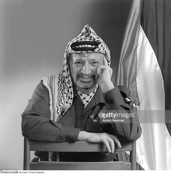 Premium Rates Apply. Minimum rate $500 USD. 385113 02: Portrait of P.L.O. leader Yasser Arafat December 9, 1993 in Tunis, Tunisia.