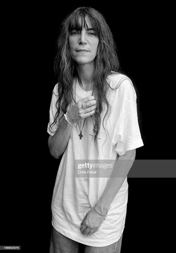 Portrait of poet and musician Patti Smith, New York, New York, 1996.