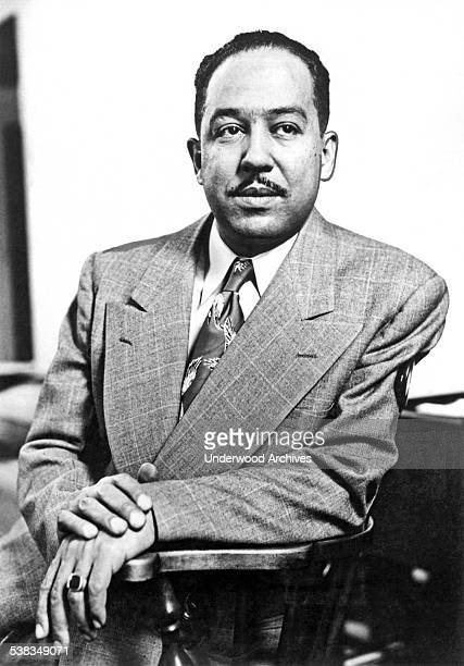 A portrait of poet author playwright and Harlem Renaissance leader Langston Hughes New York New York February 1959