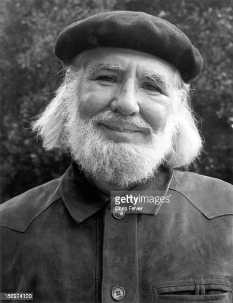 Portrait of poet Ernesto Cardenal Berkeley California 1983