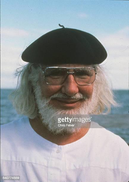 Portrait of poet Ernesto Cardenal Nicaragua 1984