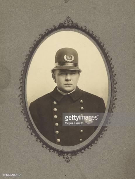 Portrait of policeman Fudge Elmira New York United States about 1882 Gelatin silver print 126 _ 88 cm