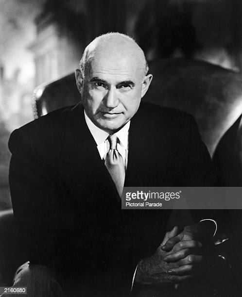Portrait of Polish born film producer Samuel Goldwyn circa 1959 His company merged with Louis B Mayer's to become MGM Studios