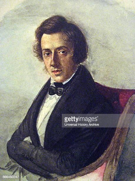 Portrait of Polish composer Frederick Chopin by Maria Wodzinska 1836