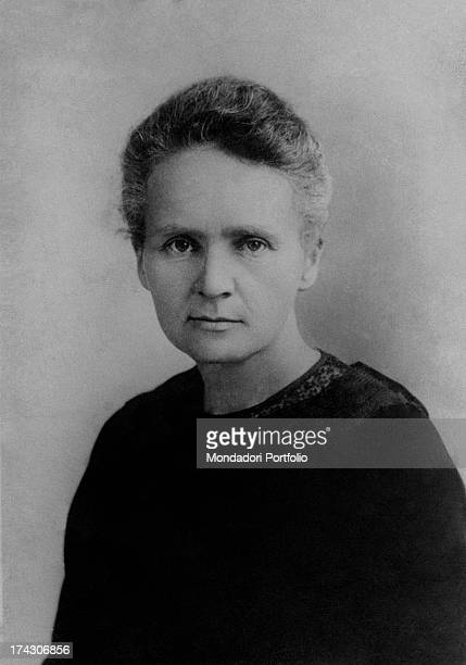 Portrait of Polishborn Russian and French chemist and physicist Marie Curie Birmingham 1913