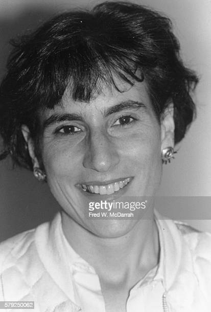 Portrait of political and gay rights activist Liz Abzug as she attends a rally at City Hall in support of the Gay Rights Bill New York New York June...