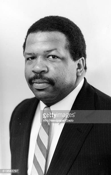 Portrait of politician and Maryland congressional representative Elijah Cummings February 5 1994