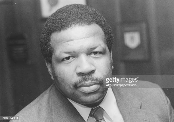 Portrait of politician and Maryland congressional representative Elijah Cummings 1985