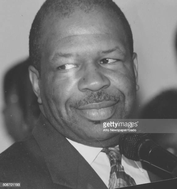 Portrait of politician and Maryland congressional representative Elijah Cummings 1994