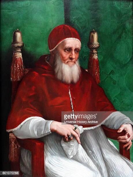 Portrait of Pope Julius II by Raffaello Sanzio da Urbino an Italian painter and architect of the High Renaissance Dated 16th Century