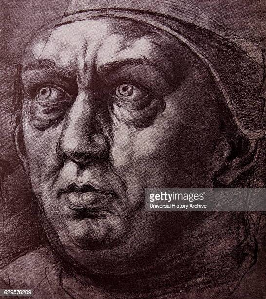 Portrait of Pope Leo X born Giovanni di Lorenzo de' Medici Dated 16th Century