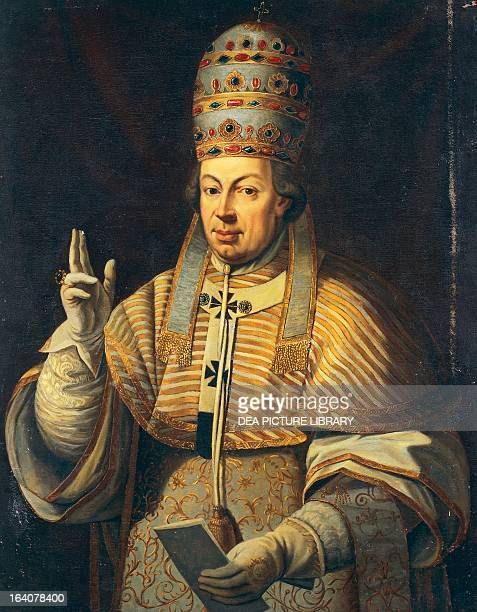 Portrait of Pope Pius VI born Giovanni Angelico or Giannangelo Braschi Pope Pius VI from 1775 painting by an unknown artist oil on canvas 165x99 cm...
