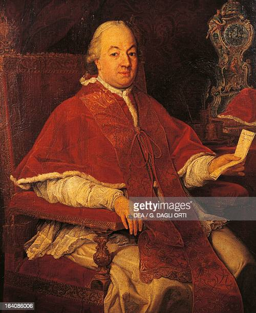 Portrait of Pope Pius VI Pope from 1775 painting by Pompeo Batoni 1775 Rome Museo Napoleonico