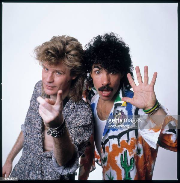 Portrait of popular 80s singing duo Hall and Oates Florida 1985