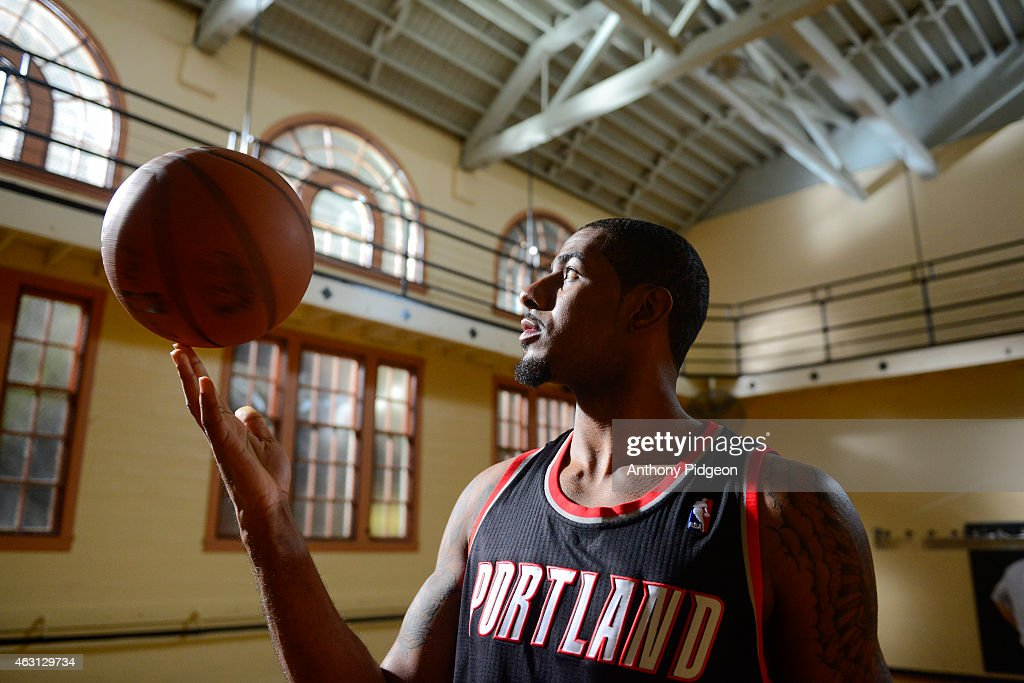 Private MMS Only: Portland Trail Blazers Power Forward, LaMarcus Aldridge, Takes The Court At The American Express PIVOT Shoot In Portland : News Photo