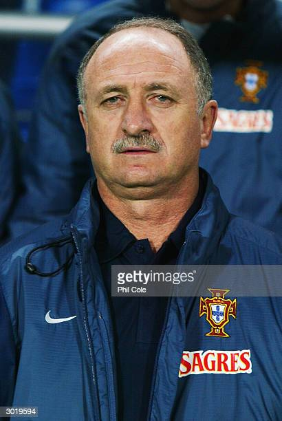 Portrait of Portugal coach Luiz Felipe Scolari taken during the International Friendly match between Portugal and England held on February 18, 2004...