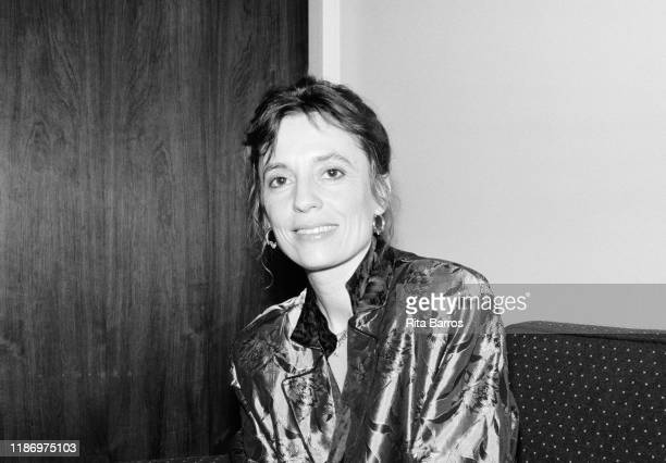 Portrait of Portuguese Classical musician Maria Joao Pires as she poses backstage at Avery Fisher Hall New York New York January 19 1988