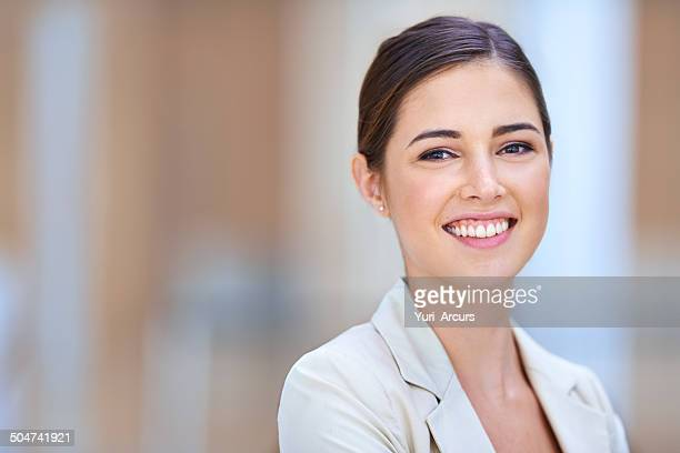portrait of positivity - ponytail stock pictures, royalty-free photos & images