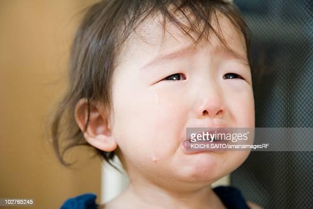 Portrait of preschool age girl crying