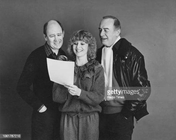 Portrait of presenters Garfield Morgan Liza Goddard and William Franklyn photographed for Radio Times in connection with the BBC Radio 2 program...