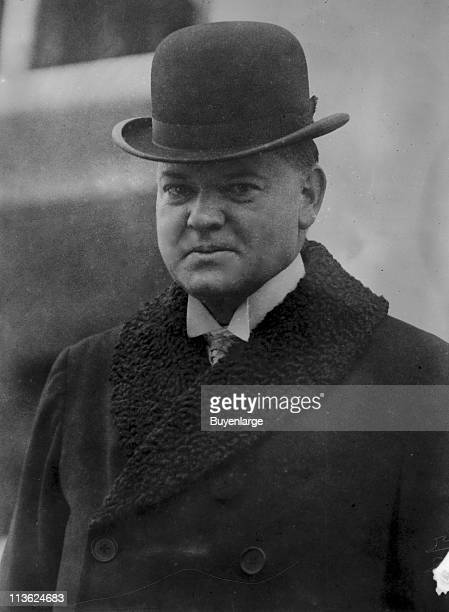 Portrait of President Herbert Hoover who served as the 31st president of the United States early twentieth century