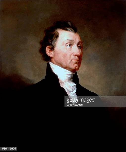Portrait of President James Monroe by Samuel FB Morse oil on canvas circa 1819 From the White House collection Washington DC