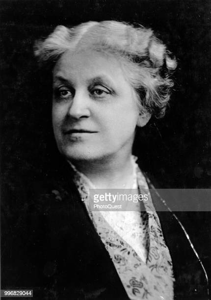 Portrait of President of the National American Woman Suffrage Association Carrie Chapman Catt Washington DC 1918