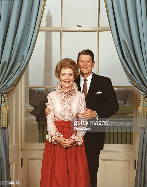 Portrait of President Ronald Reagan with First Lady Nancy Reagan, taken in the White House, 1984.