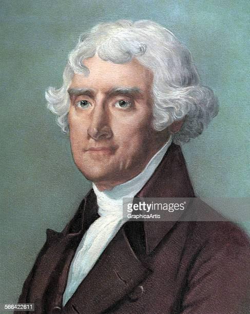 Portrait of President Thomas Jefferson screen print 1965