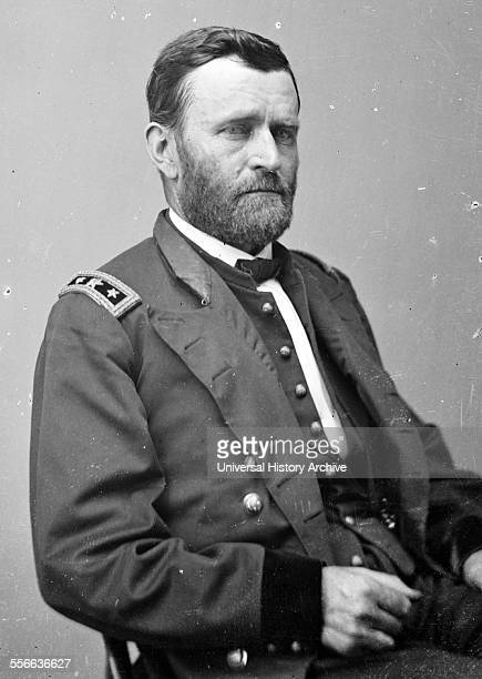 Portrait of President Ulysses S Grant 18th President of the United States and Commanding General of the Union Army during the American Civil War...