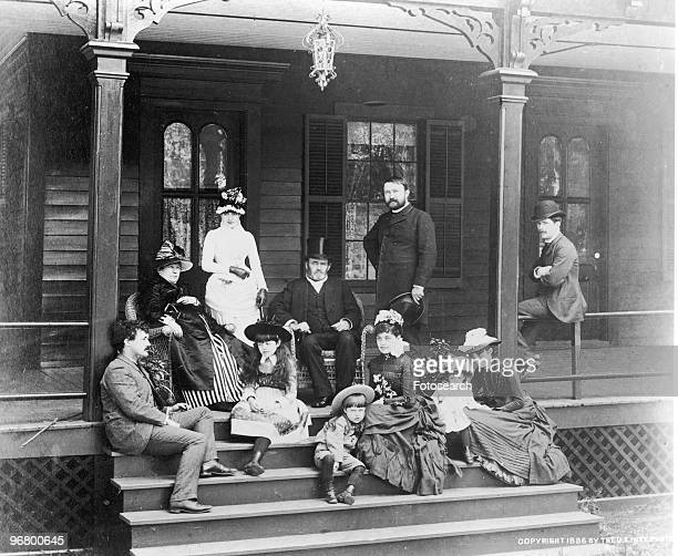 Portrait of President Ulysses S Grant and family circa 1840s