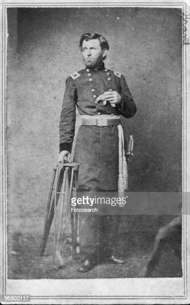 Portrait of President Ulysses S Grant in uniform circa 1870s
