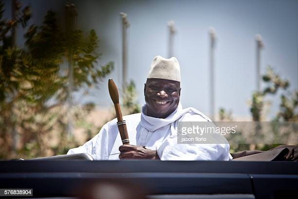 Portrait of President Yahya Jammeh of The Gambia West Africa