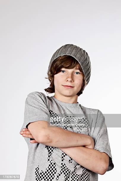 Portrait of pre-teen boy (10-12)