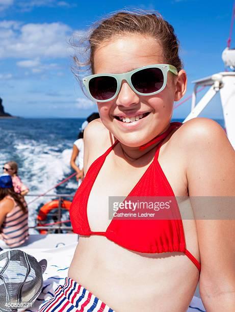 Portrait of Pre-Teen Girl on Boat