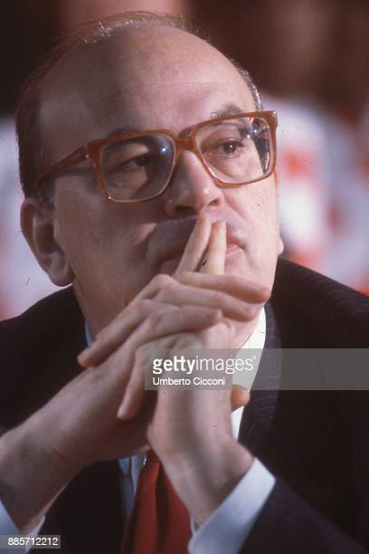 Portrait of Prime Minister of Italy Bettino Craxi, Rome 1986.