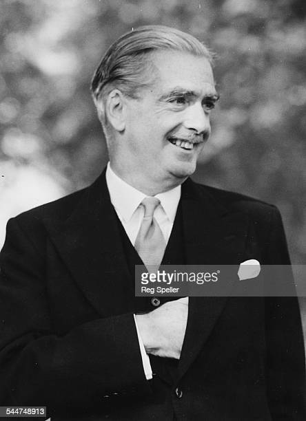 Portrait of Prime Minister Sir Anthony Eden smiling October 1955