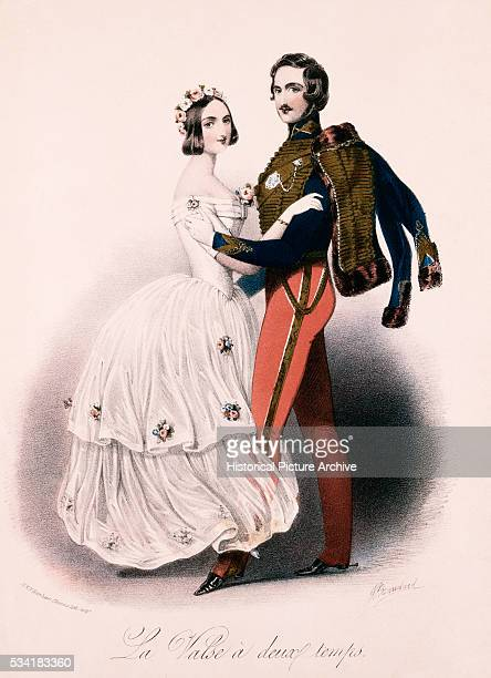 Portrait of Prince Albert and Queen Victoria Dancing The Waltz in Two Time by John Brandard