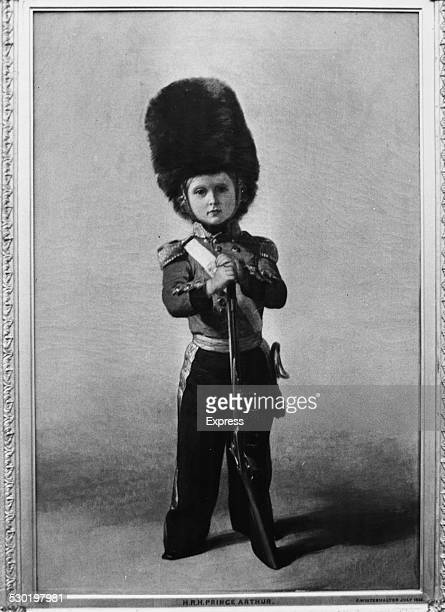 Portrait of Prince Arthur son of Queen Victoria and later the Duke of Connaught wearing a Queen's Guard uniform and bearskin hat November 5th 1963