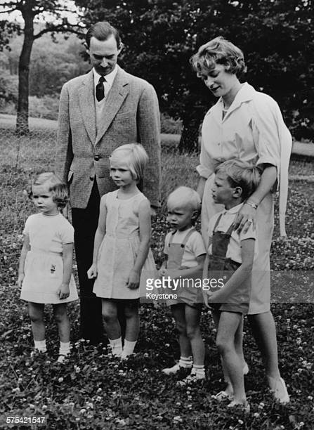 Portrait of Prince Jean of Luxembourg with his wife Princess Josephine and their children Princess Margaretha Princess MarieAstrid Prince Jean and...