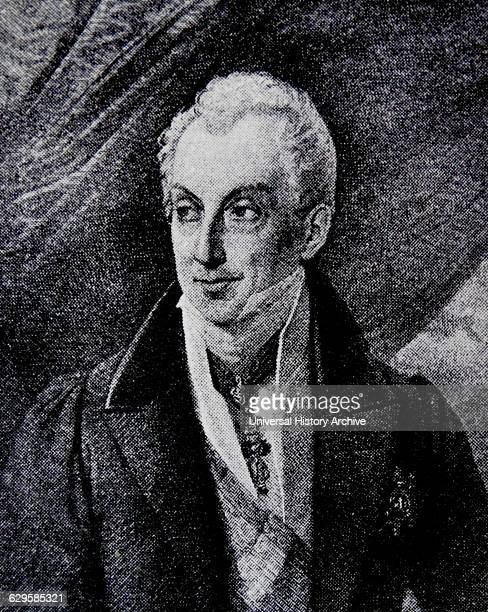 Portrait of Prince Klemens Wenzel von Metternich Politician statesman of Rhenish and Austrian Empire's Foreign Minister Dated 19th Century