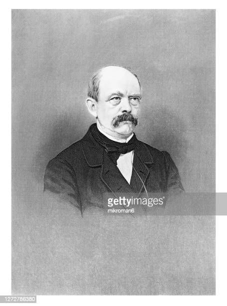 portrait of prince otto eduard leopold von bismarck, chancellor of the german empire - prime minister stock pictures, royalty-free photos & images
