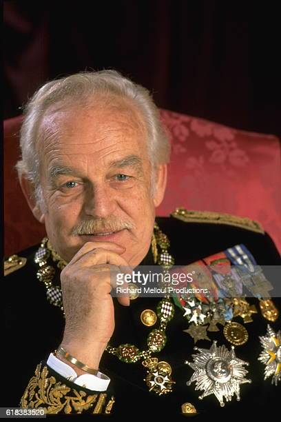Portrait of Prince Rainier in full regalia