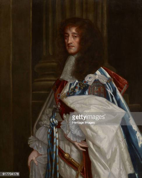 Portrait of Prince Rupert of the Rhine wearing the robes of the Order of the Garter Private Collection