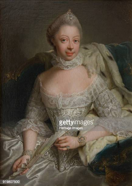 Portrait of Princess Charlotte of MecklenburgStrelitz Queen of Great Britain 1762 Found in the collection of Nationalmuseum Stockholm