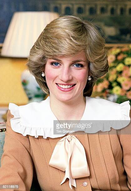 Portrait Of Princess Diana At Her Home In Kensington Palace