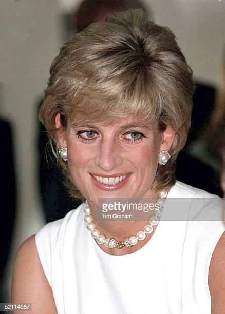 Portrait Of Princess Diana Smiling In Argentina.