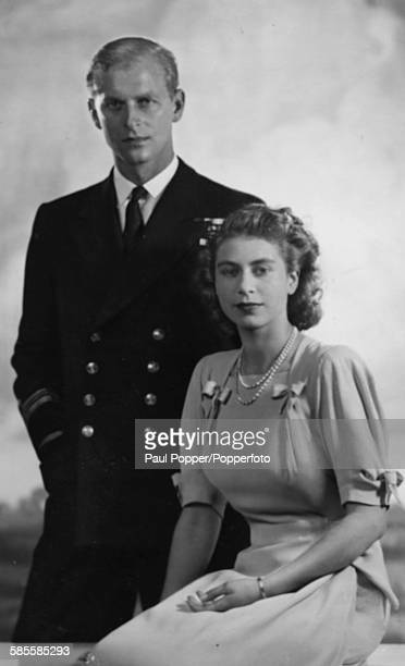 Portrait of Princess Elizabeth and Prince Philip the Duke of Edinburgh in 1948
