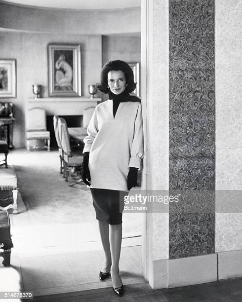 A portrait of Princess Lee Radziwill voted among the World's Best Dressed Women for 1962 in the annual International Fashion Poll